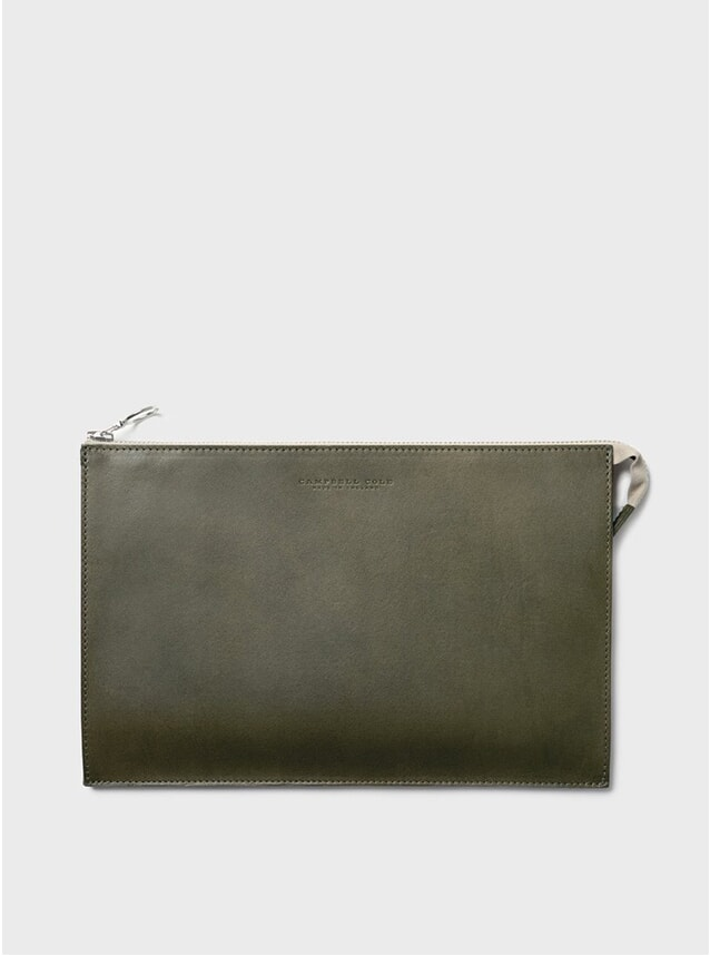 Khaki Simple A5 Pouch