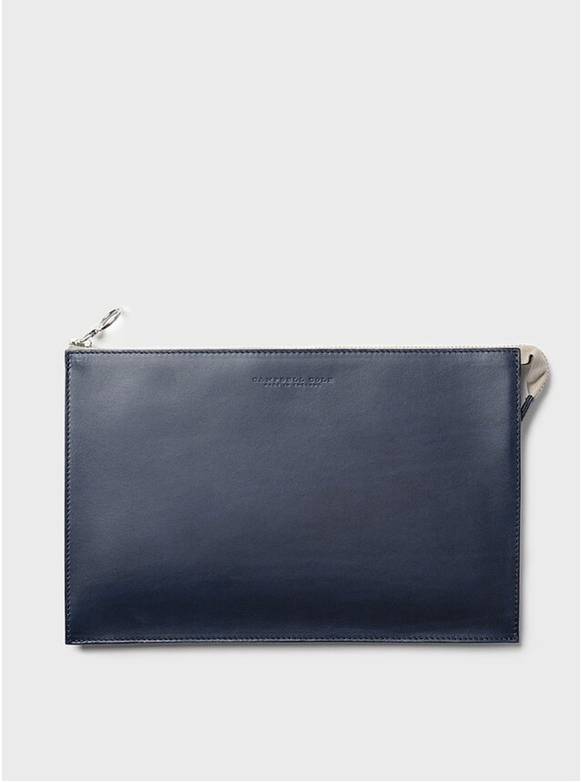 Navy Simple A5 Pouch