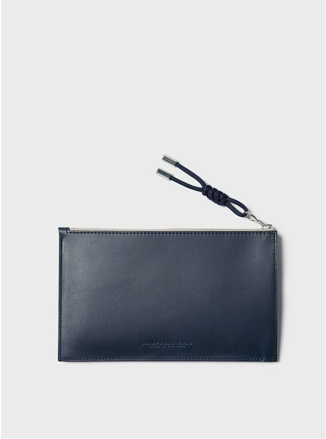 Navy Simple A6 Pouch