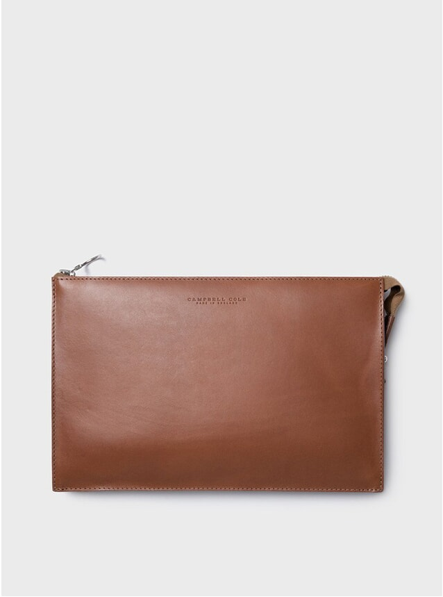 Tan Simple A5 Pouch