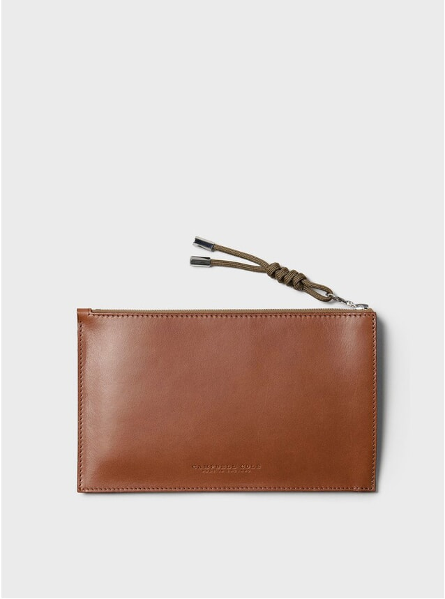 Tan Simple A6 Pouch