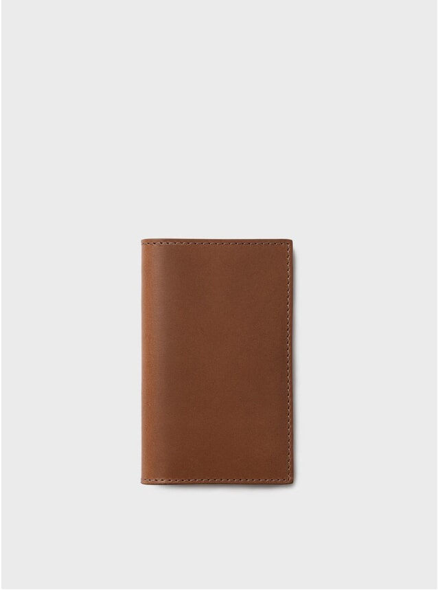 Tan Simple Slim Card Wallet