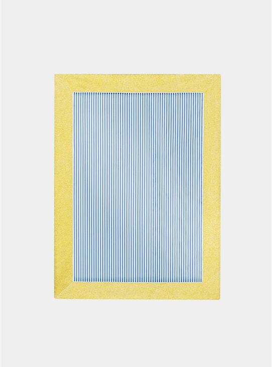 Lemon / Blue Striped Towel