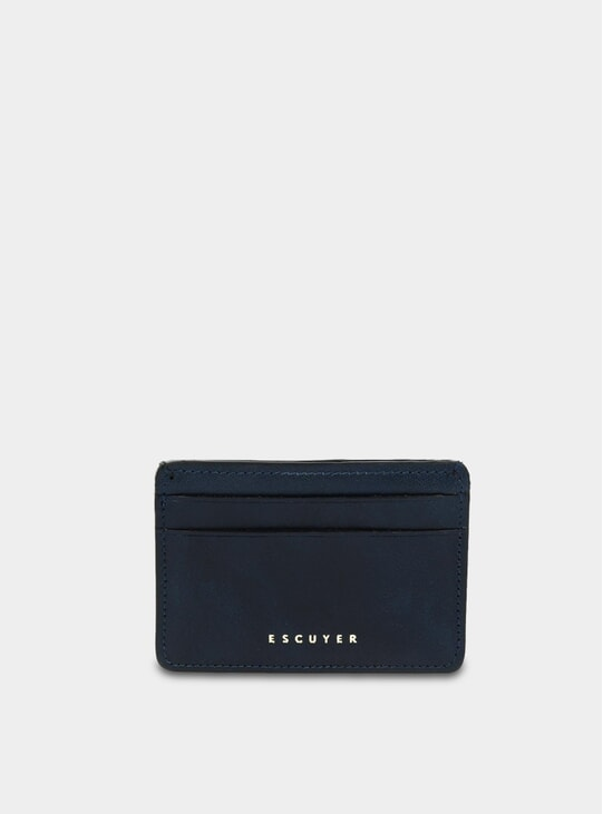 Blue Leather Cardholder