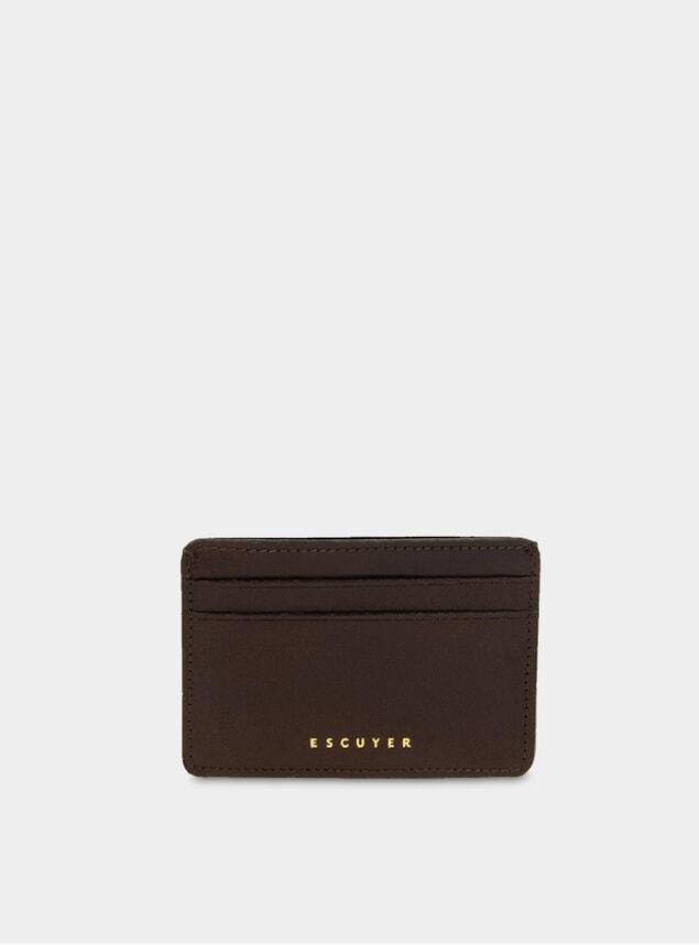 Dark Brown Leather Cardholder
