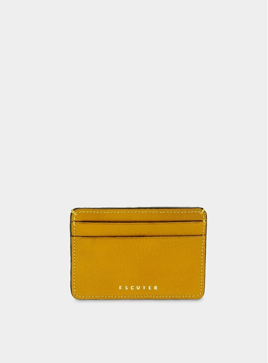Yellow Leather Cardholder