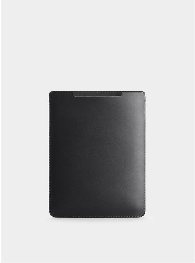 Black Leather iPad Mini Sleeve