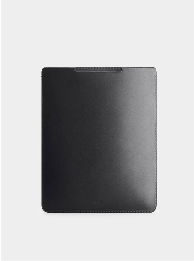Black Leather iPad Pro 12.9 Sleeve