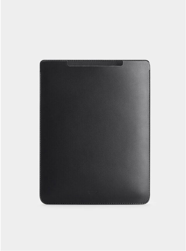 Black Leather iPad Pro 9.7 Sleeve