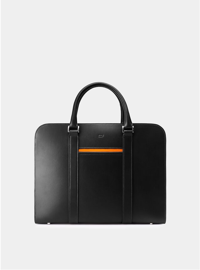 Black / Orange Lining Palissy Briefcase