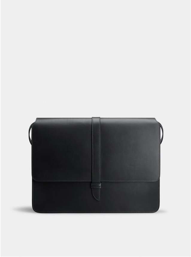 Black / Orange Montagu Messenger Bag