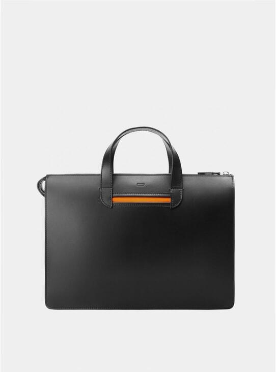 Black / Orange Vallance Briefcase