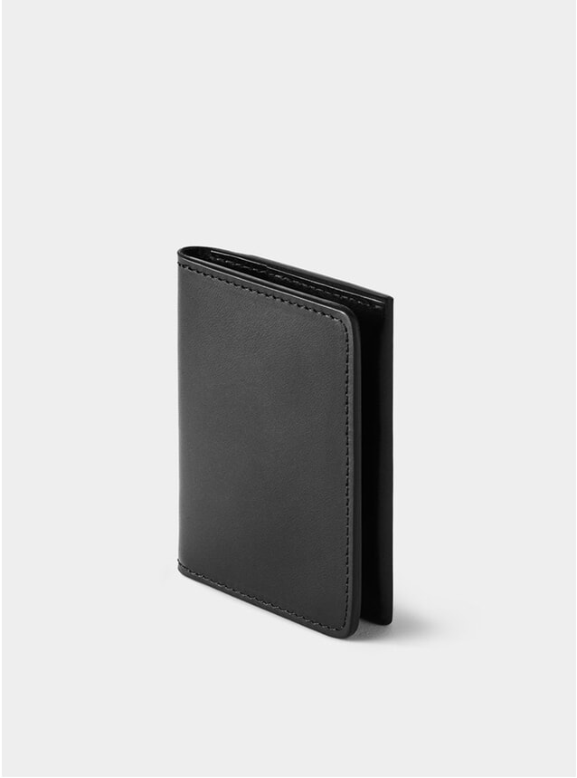 Black Swanfield Leather Card Wallet