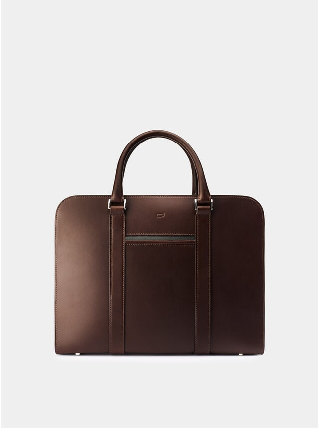 Chocolate / Grey Lining Palissy Briefcase