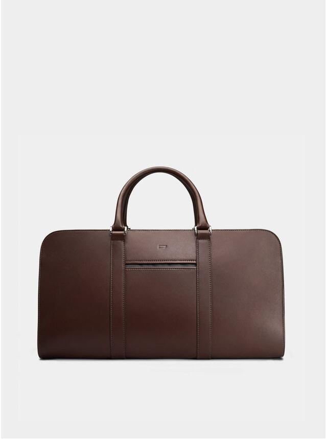 Chocolate / Grey Lining Palissy Weekend Bag