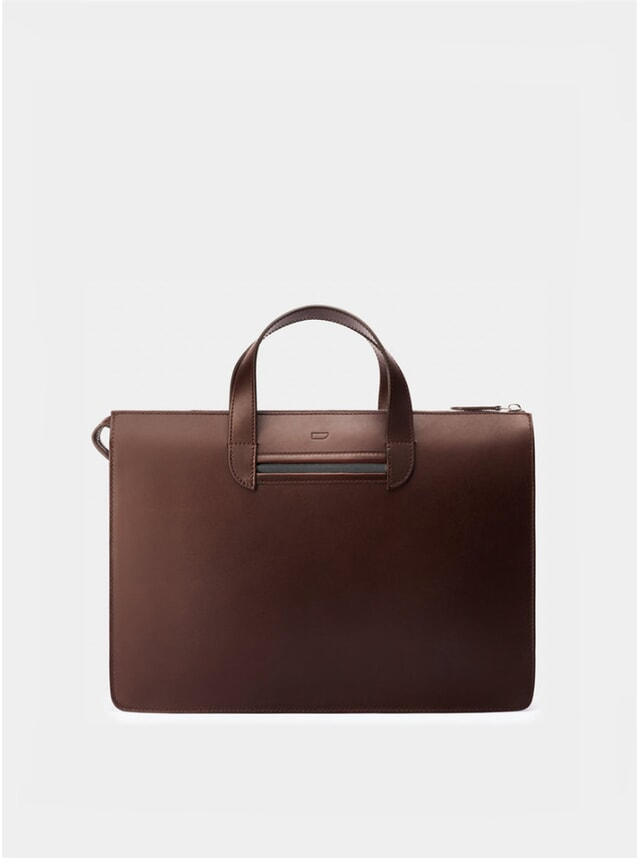 Chocolate / Grey Vallance Briefcase