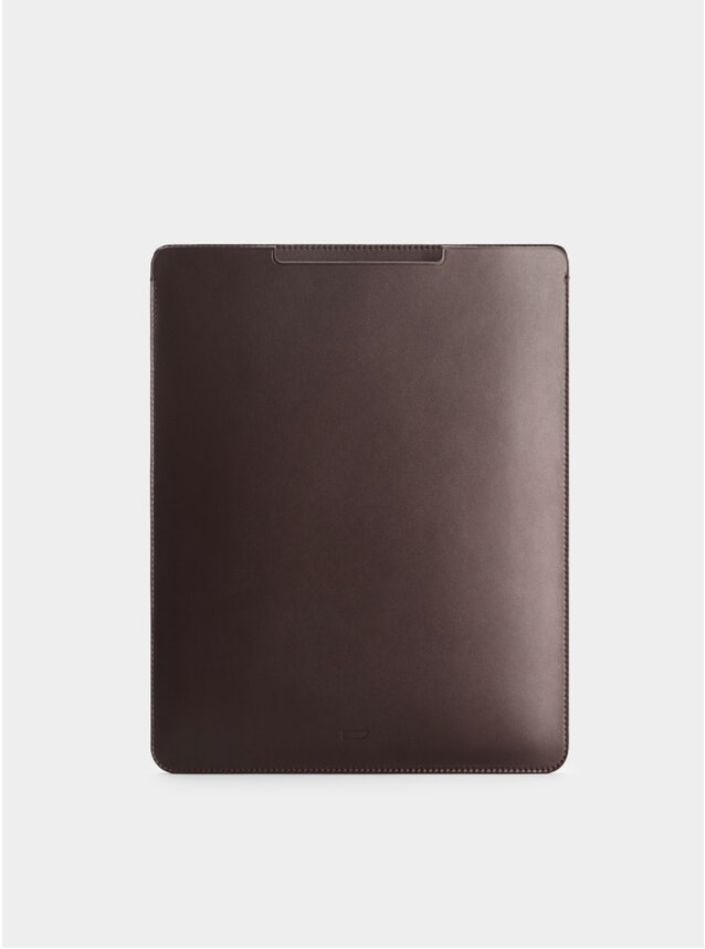 Chocolate Leather iPad Pro 12.9 Sleeve