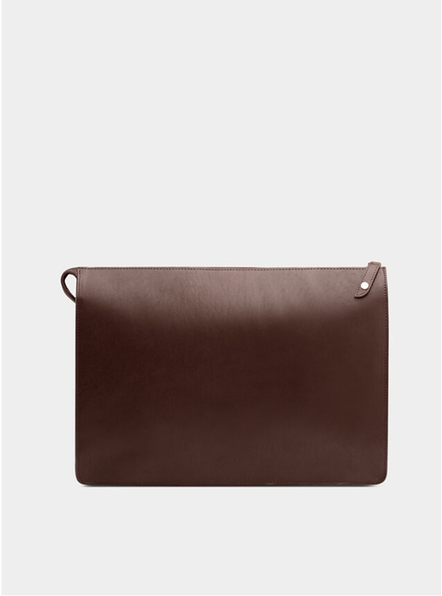 Chocolate / Orange Goswell Leather Portfolio