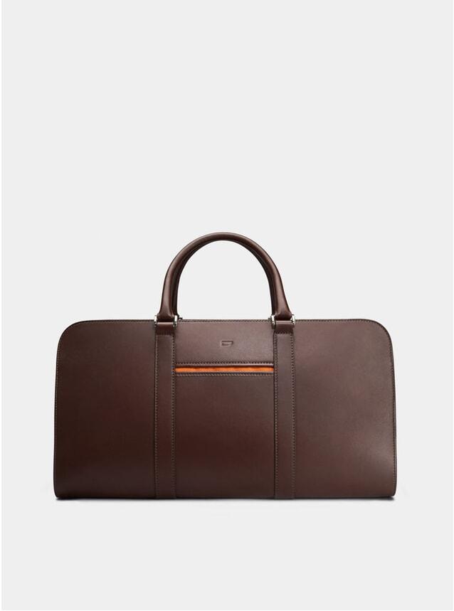Chocolate / Orange Lining Palissy Weekend Bag
