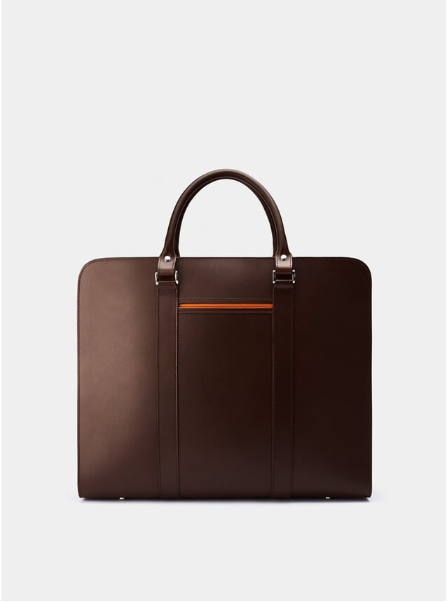 Chocolate / Orange Palissy 25HR Briefcase