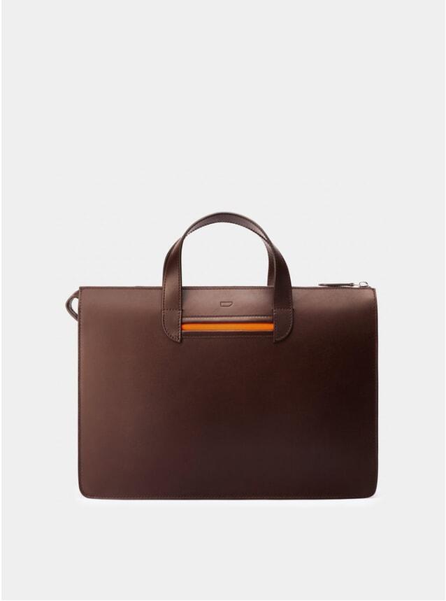 Chocolate / Orange Vallance Briefcase