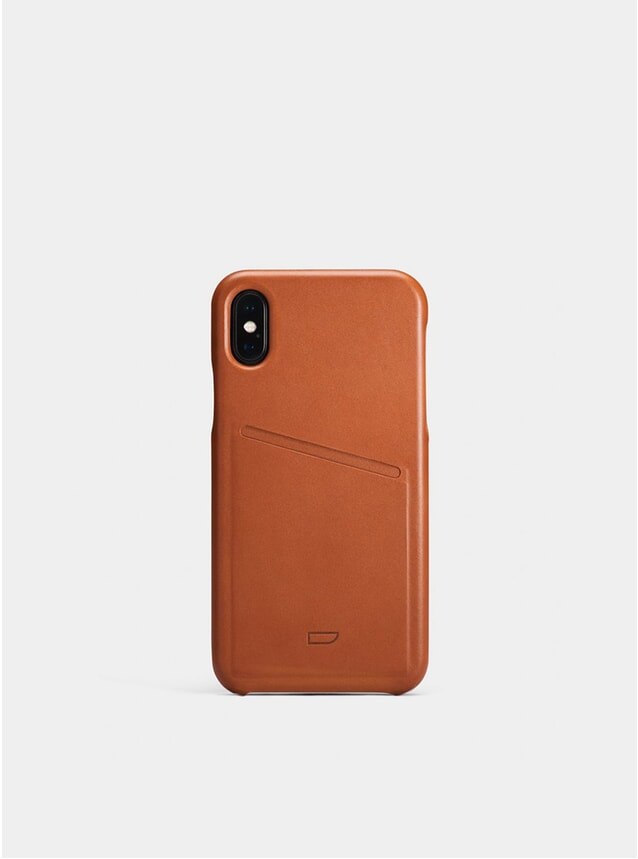 Cognac iPhone X Pocket Case