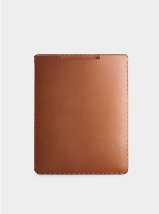 Cognac Leather iPad Pro 12.9 Sleeve