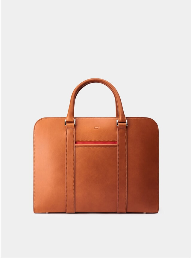 Cognac / Red Lining Palissy Briefcase