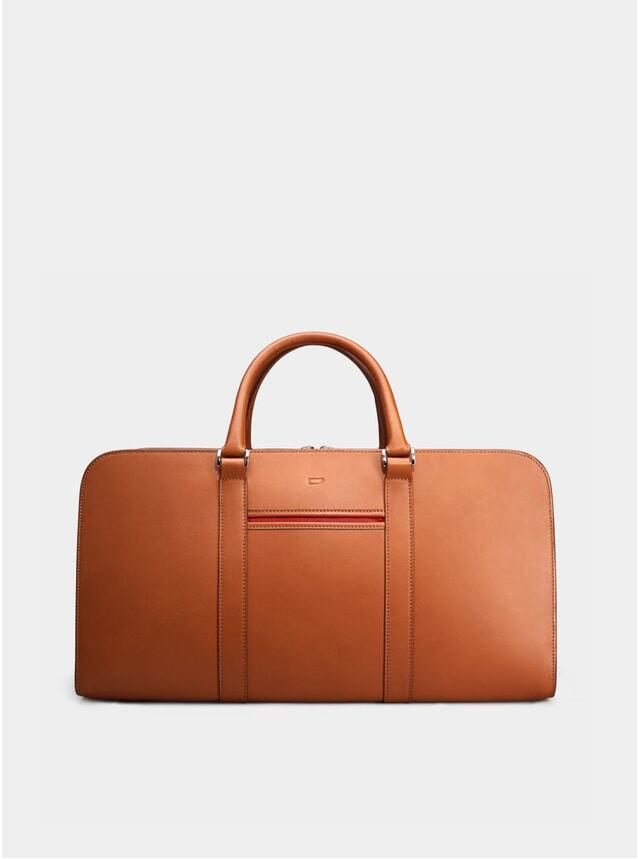 Cognac / Red Lining Palissy Weekend Bag
