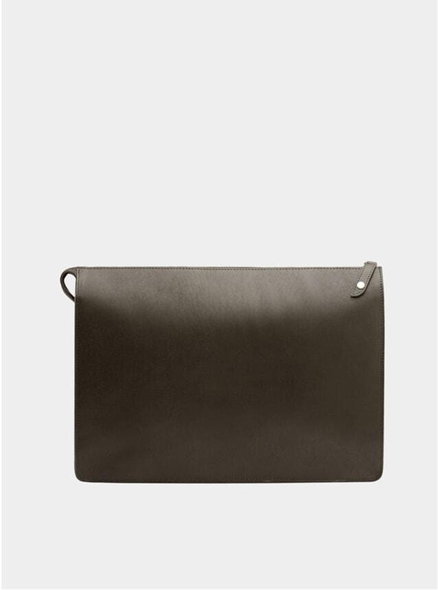 Fango Brown / Grey Goswell Leather Portfolio