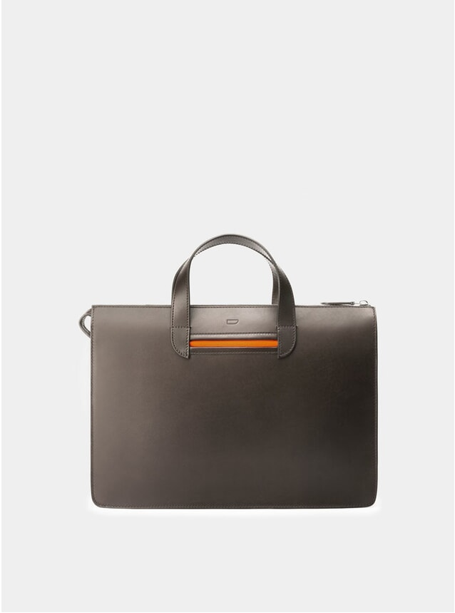Fango Brown / Orange Vallance Briefcase