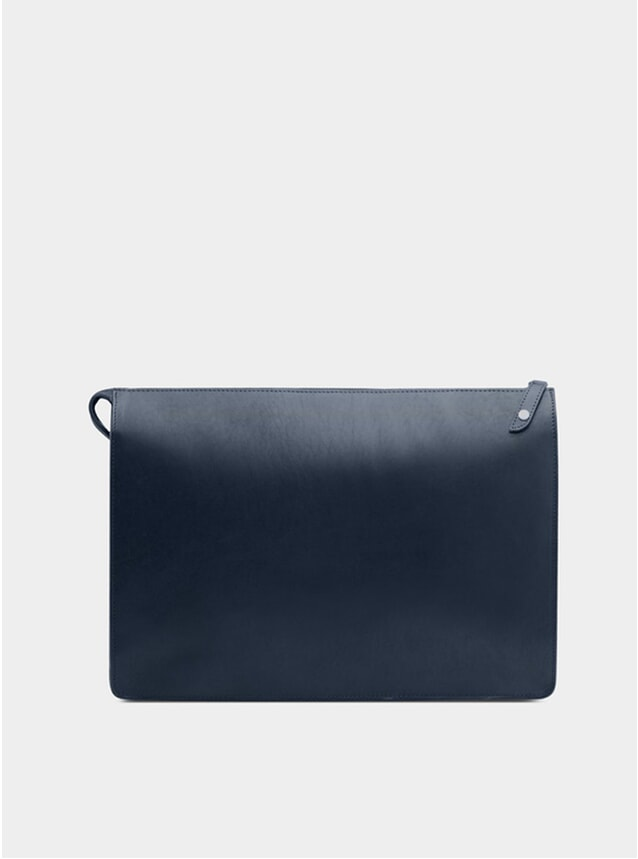 Navy / Grey Goswell Leather Portfolio