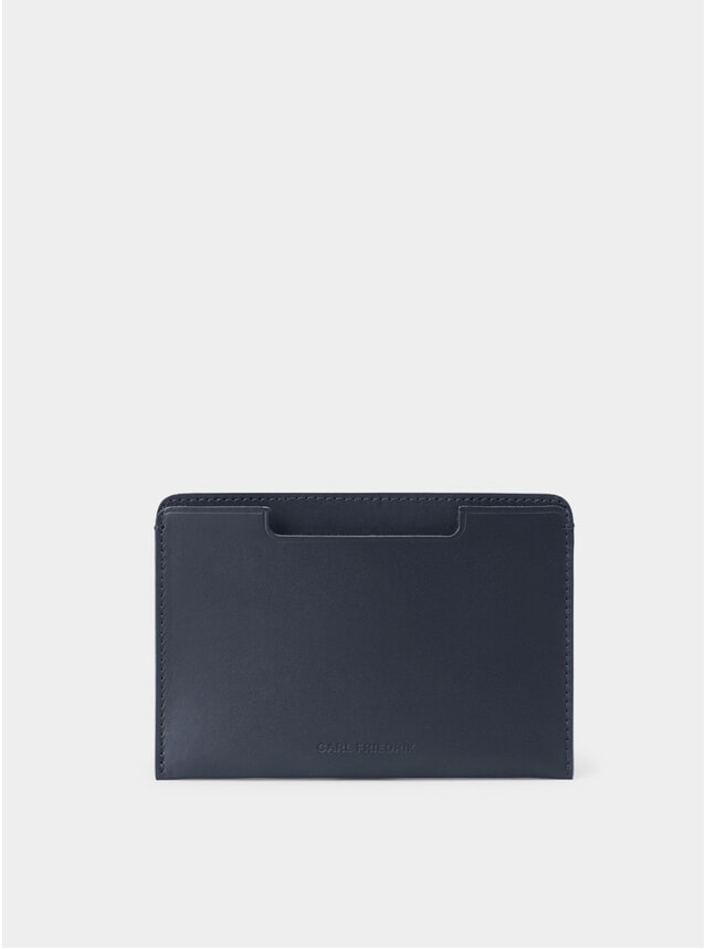 Navy Leather Easton Passport Cover