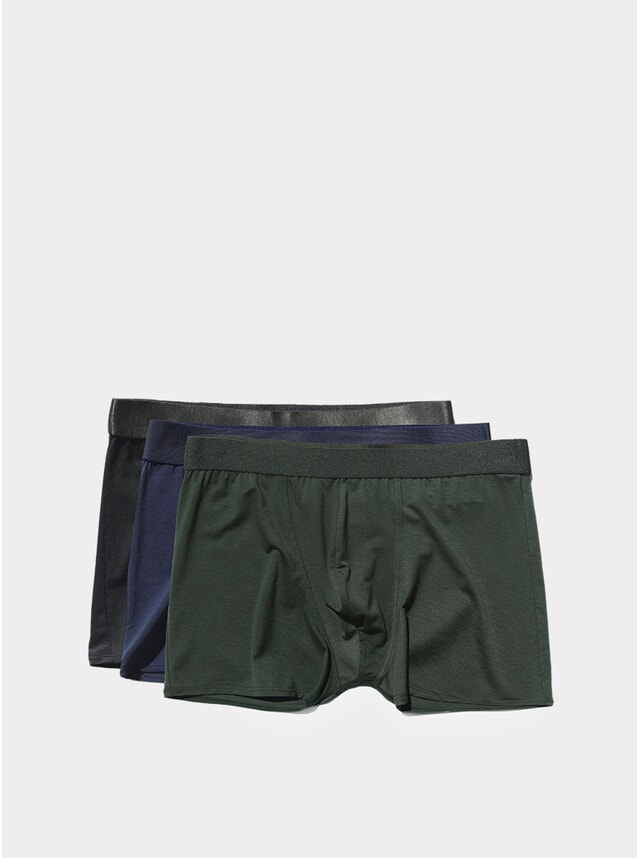 Black / Navy Blue / Army Green Boxer Brief 3-Pack