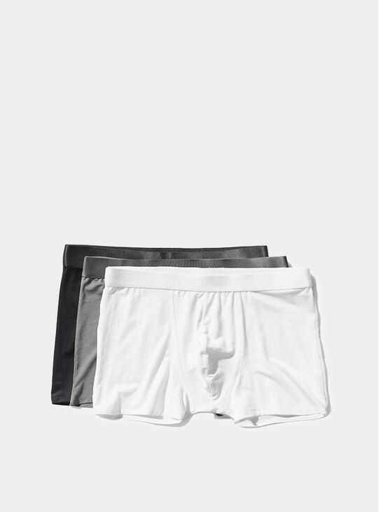 Black / Sky Grey / White Boxer Brief 3-Pack