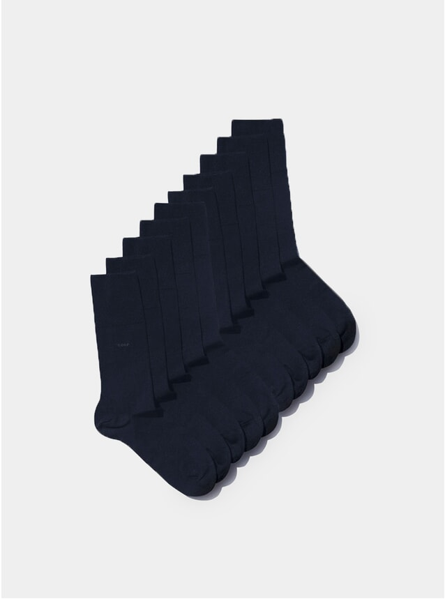 Navy Blue Bamboo Socks Pack of 10