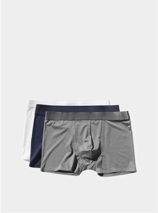 White / Navy Blue / Sky Grey Brief 3-Pack