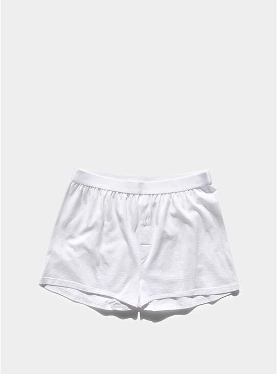 White Sea Island Cotton Boxer Shorts