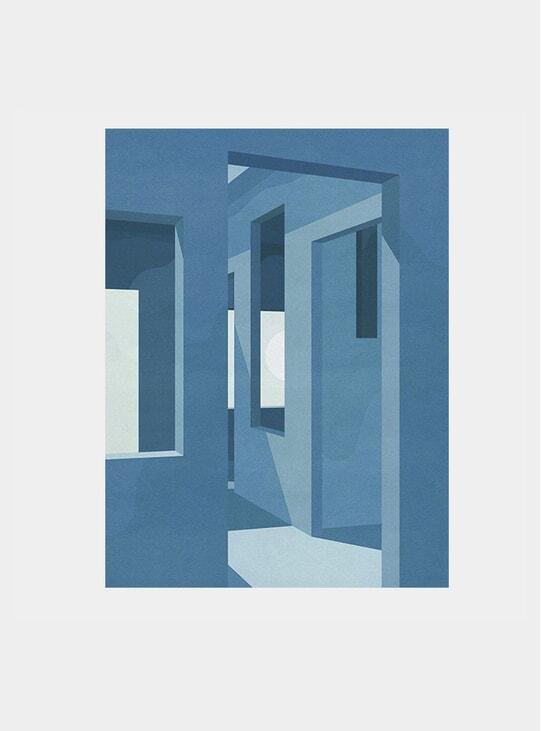 Blue Suede Print
