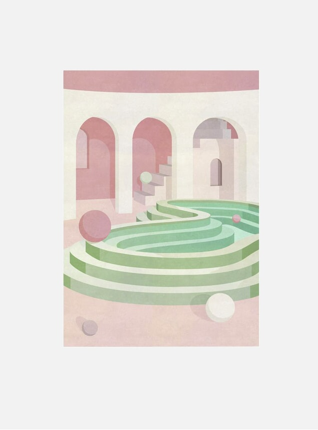 Curved Pool Print