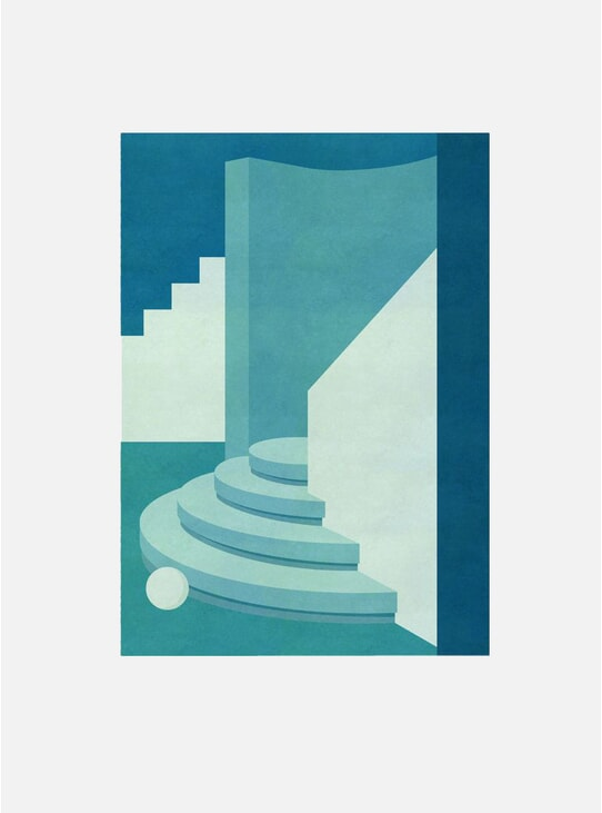 Circular Steps Print