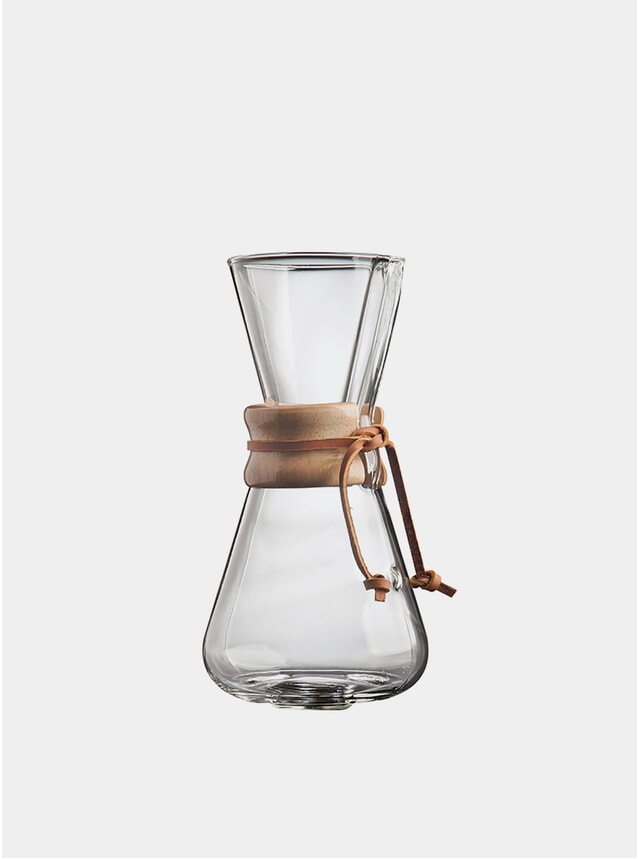 Classic Wooden Collar 3 Cup Drip Coffee Maker