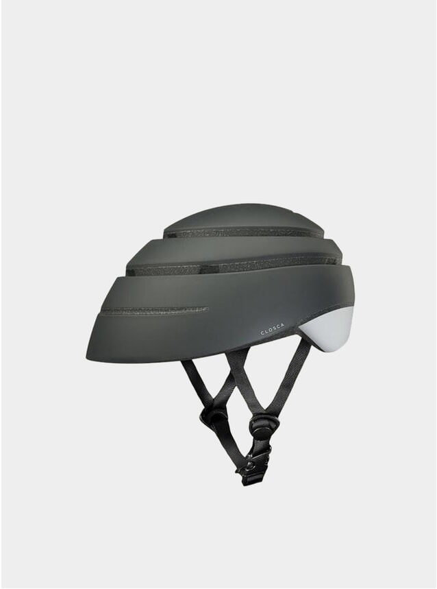 Graphite / White Loop Helmet