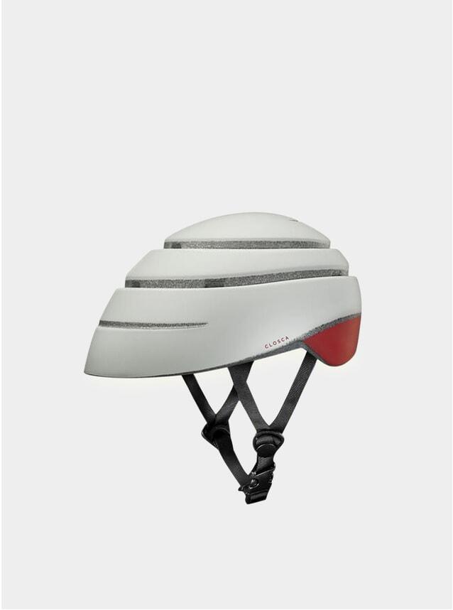 Pearl / Red Wine Loop Helmet