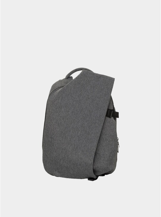 Black Melange Eco-Yarn Isar Small Backpack