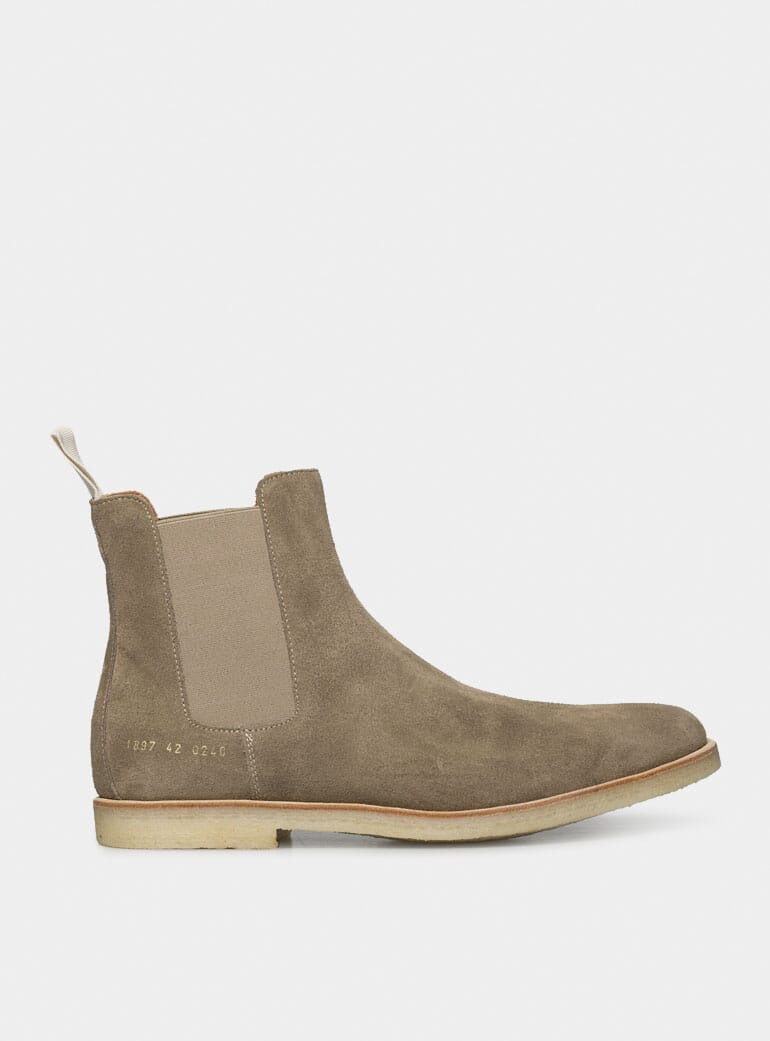Common Projects Taupe Suede Chelsea