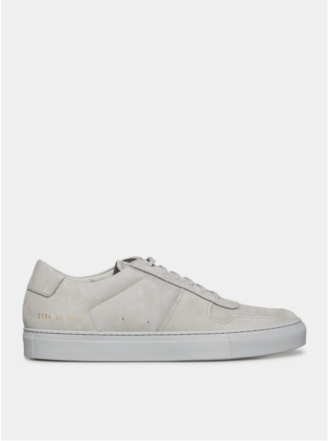 Grey Suede BBall Low Sneakers