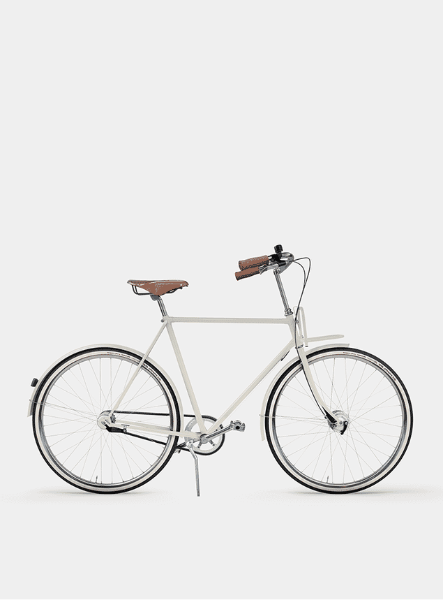 Creamy Beige City Cruiser Bicycle