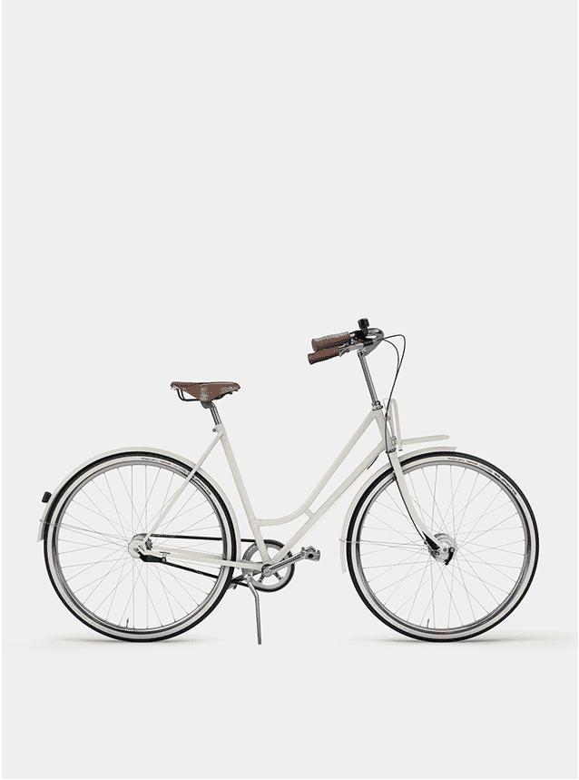 Ivory White Lady Cruiser Bicycle
