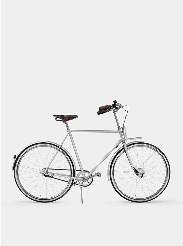 Metallic Grey  City Cruiser Bicycle